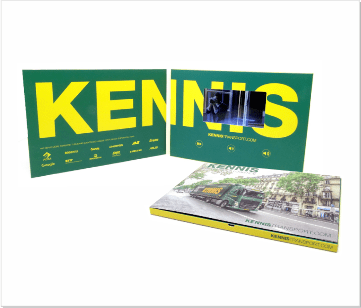 Kennis Transport | A5 Video Brochure met LCD beeldscherm