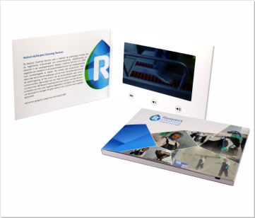 Respect Cleaning V2 | Video Brochure met 7 inch beeldscherm